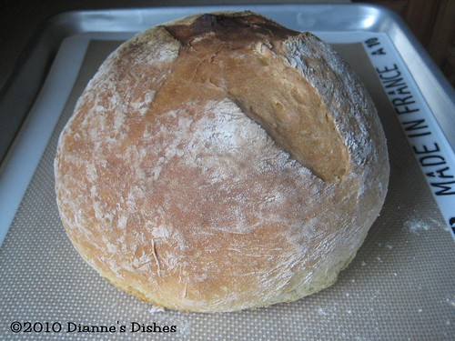Easy Sour Dough Bread: Baked