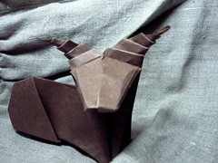 Ibex (floating ink) Tags: origami horns paperfolding ibex