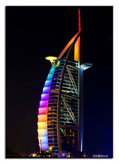 Different moods of Burj Al Arab (Sh@dows) Tags: travel light sea colour beach architecture night canon landscape island lights hotel flickr dubai colours uae explore journey burjalarab nightlight 7d ef 7star jumeirah burj jumairah shdows sarin tallesthotel topseven canonef24105mm ef24105mm anawesomeshot colorphotoaward sarinsoman eos7d canon7d