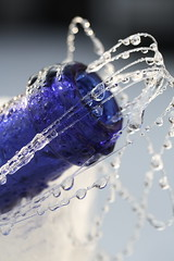 Sparkling blue (wout.) Tags: blue winter cold wet canon frozen bottle bubbles sparkling prosecco efs60mm eos400d