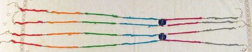 vista geral dos modelos de cromossomos em crochê