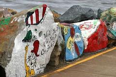 Rock art (harry's boy) Tags: art portmacquarie breakwall