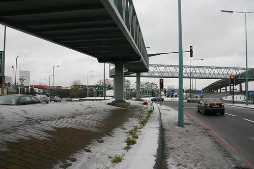 The North Circular Road at the M1 Motorway