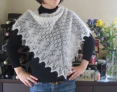 Beaded Swallowtail shawl