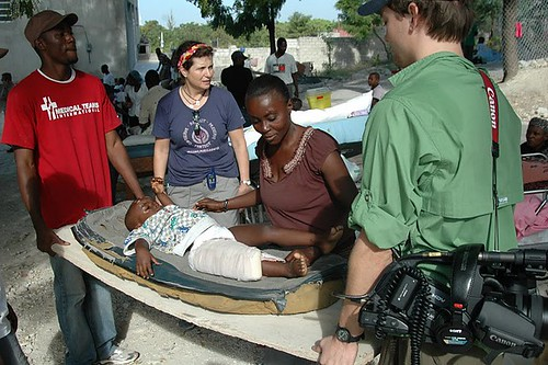 Helping in Haiti