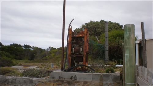 Old gas pump in Betty's Bay