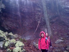 Kids at False Keown Falls