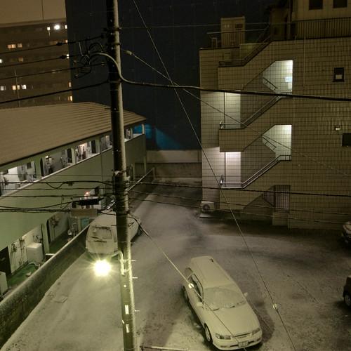 10:47 p.m. Kasai, Tokyo, Japan, Snow