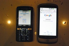 Compared with Sony Ericsson K850i - Google Nexus One