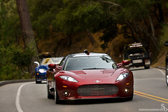 Spyker C8 Ailerion (Stephan Bauer) Tags: red beach photography tour wine spyder pebble exotic bauer stephan rare supercar spyker concour c8 ailerion