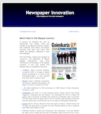 Newspaper Innovation webgunea
