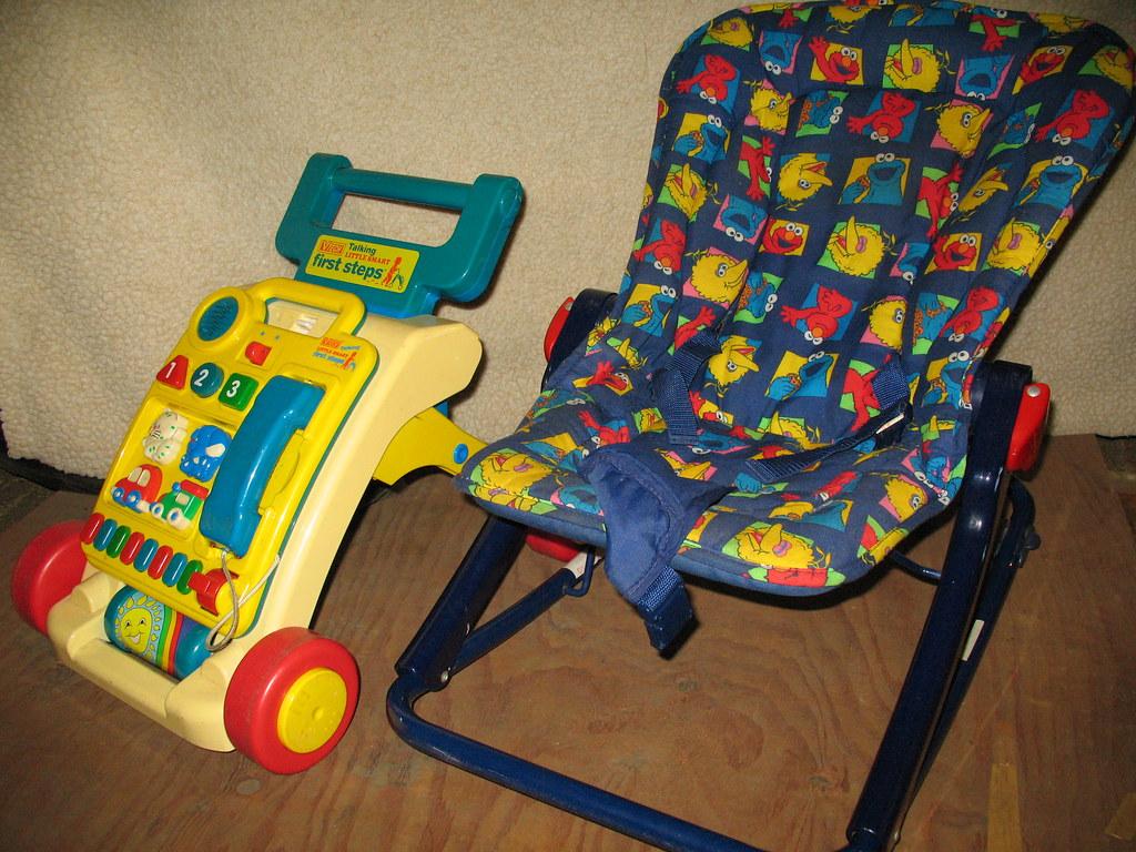 Vtech Baby Cruiser/ Walker $29 and Sesame Street Rocker $19