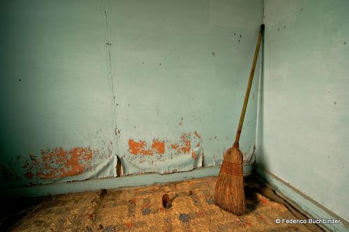 Broom and Glass