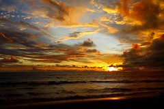 Sunset at Seminyak, Indonesia (ozdenugu) Tags: sunset bali cloud beach indonesia asia seminyak 5photosaday nz2010