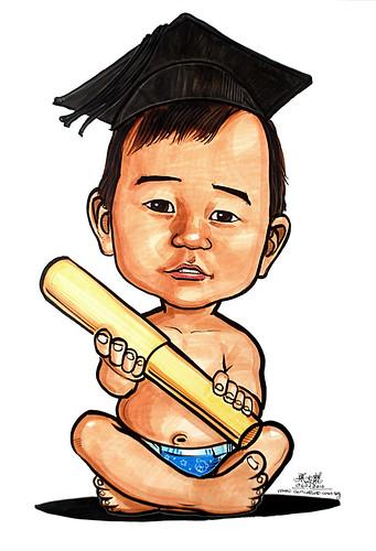 Graduate baby caricature