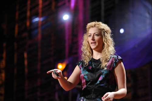 "Jane McGonigal at TED2010, Session 6, ""Invention,"" Thursday, February 11, 2010, in Long Beach, California. Credit: TED / James Duncan Davidson"