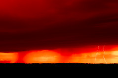 Pawnee Lightning (David Kingham) Tags: red storm clouds colorado lightning pawnee pawneenationalgrasslands