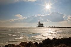 It all started as a sunny day (KennethVerburg.nl) Tags: winter lighthouse holland ice dutch nederland thenetherlands vuurtoren marken noordholland 2010 ijs markermeer paardvanmarken