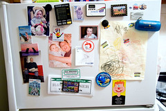 mosaic (alexei_nyc) Tags: life door blue red kitchen smile yellow circle daddy real spiral photo dad child photos drawing mosaic birth grandfather documentary drawings magnets puzzle stove refrigerator