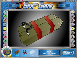 free Spy Game slot bonus game