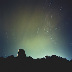 (*Cyrus`*) Tags: longexposure 120 film night analog mediumformat square melbourne mornington startrail fujisuperia100 hasselbladswc