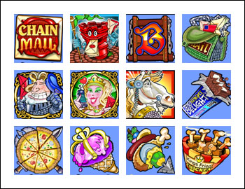 free Chain Mail slot game symbols
