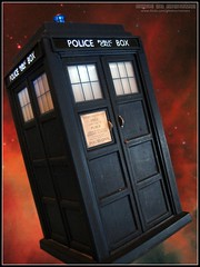 TARDIS Mk VII (Rooners Toy Photography) Tags: red toys who space explore doctorwho bbc scifi sciencefiction tardis figures thedoctor timelord characteroptions rooners