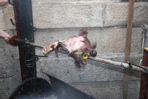 Pig Head on Spit