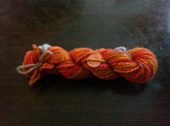 Handspun Pumpkin Patch BFL