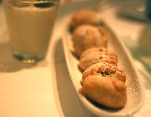 "Oreo ""beignets"", vanilla milkshake, Lavo in the Palazzo, Las Vegas"
