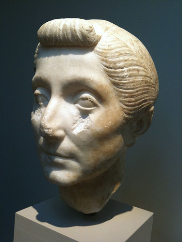 Portrait head of an elderly woman 40-20 bc image by leoncillo sabino from