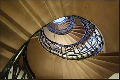 Spiral (MarcelS) Tags: stairs germany spiral deutschland library bibliothek stairway treppe staircase handrail heidelberg schnecke treppenhaus gelnder nikond60 nikkor1855mmvr