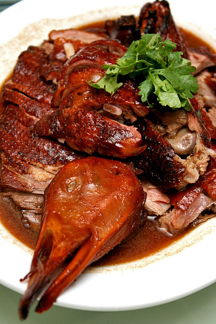 Charcoal Grilled Goose