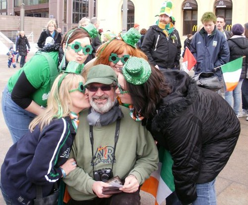 At St Patricks Day Parade in Oslo 2010