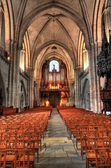 Angers Cathedral (Cathdrale Saint-Maurice d'Angers) (Hans Kool) Tags: france church architecture religious nikon cathedral interior religion tranquility nobody hdr 1685mm