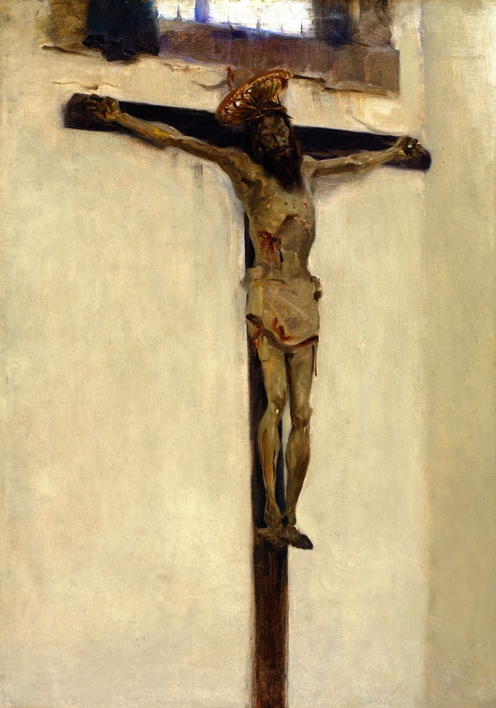 John Singer Sargent (American, 1856-1925 ) Crucifix (1879) Oil on canvas. Private Collection.