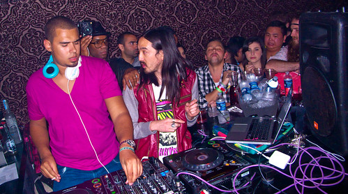 Afrojack (Left) with Steve Aoki(Right)