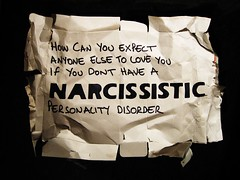 narcissistic (alshepmcr) Tags: love stencil quote text personality packaging disorder vain narcissistic