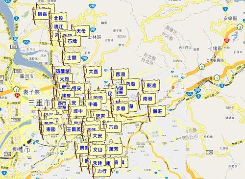 北市圖分布圖