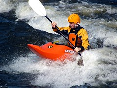 Chomp! What happened to the rest of my Kayak? (zJMac) Tags: orange ontario canada river kayak bright ottawa zjmac