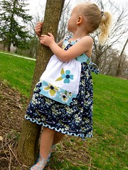 Modern Meadow Reverse Knot Dress with Applique (olivia bolivia) Tags: lake modern claire pond dress joel meadow knot apron dogwood reverse applique dewberry