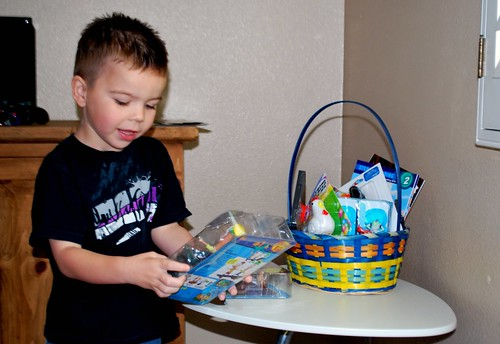 Angry Kid and his Easter Basket