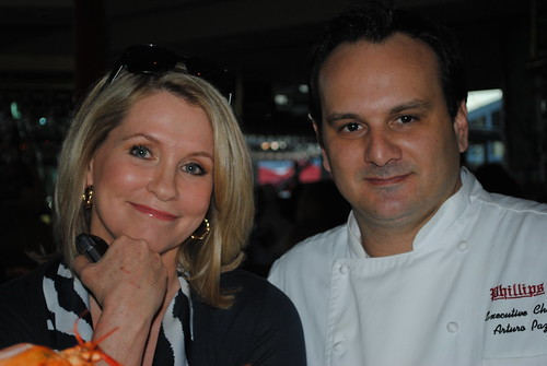 Donna Hamilton and Chef Paz