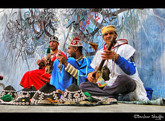 Gnawa Music ! (Bashar Shglila) Tags: africa blue red music colors african morocco maroc marruecos tanger gnawa asilah    arzila    mygearandmepremium mygearandmebronze mygearandmesilver mygearandmegold mygearandmeplatinum mygearandmediamond