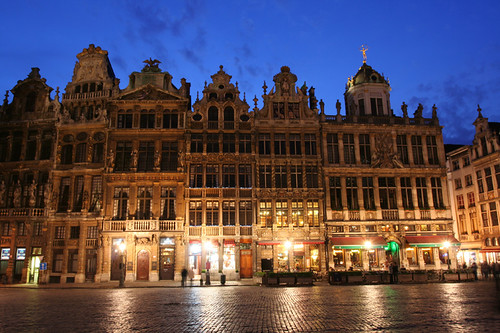 Grand Place at dusk