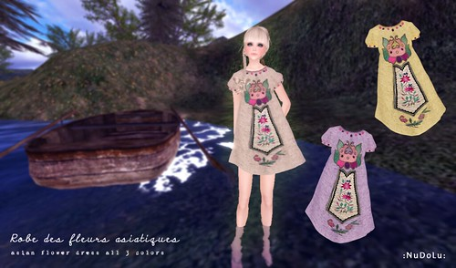 NuDoLu Robe des fleurs asiatiques AD