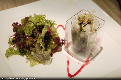 The Dunearn - Scallop Ceviche Infused with Lemongrass Served with Mesclun Salad