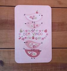 placa bem vindo (Imer atelie) Tags: bemvindo placa pinturamdf passarinho corderosa vintage enfeiteporta decoração casa uberaba
