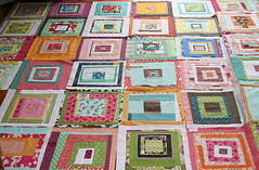 block party quilt blocks (filminthefridge) Tags: handmade improv blockparty quiltblocks denyseschmidt quiltingbee drunkloveinalogcabin