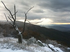 Global Warming? (Michael Pancier Photography) Tags: sunset snow apple virginia nationalparks iphone seor shenandoahnationalpark 26degrees michaelpancier michaelpancierphotography appleiphone wwwmichaelpancierphotographycom seorcohiba